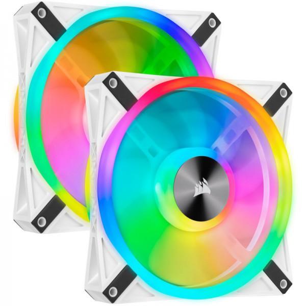 Corsair iCue QL140 RGB Dual Kit White