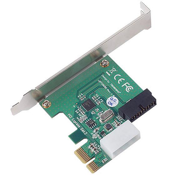 SilverStone EC01-P Tarjeta PCI-E 1X. Conector interno USB 3.0